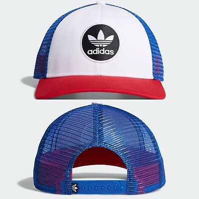 ADIDAS ORIGINALS OG Circle Red White Blue Trucker Hat Cap - Mens ... 9ea30c48966c