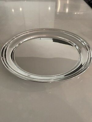 Graff Washbourne & Dunn For Cartier Sterling Silver Round Tray