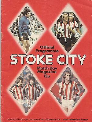 Stoke City v West Bromwich Albion, 18 December 1976, Division 1