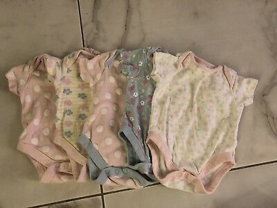 Baby Girls Aged  0-3 Months Boots  Mini Club Vests X5