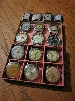 Job Lot Of Gents Mechanical Wind Vintage Watches For Spares And Repairs, Smiths,