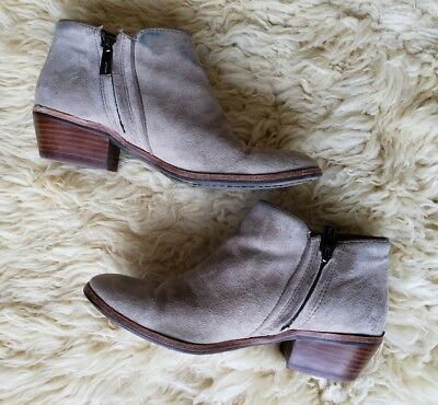 e0c0ebc3c3a686 Sam Edelman Size 6 Petty Bootie Taupe Brown Boot Suede Leather Ankle Zipper  Boho