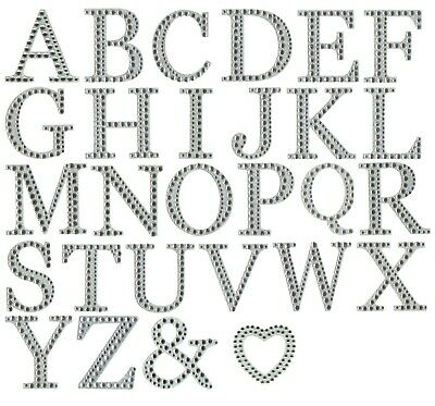 Letter Stickers - Large Self Adhesive 5cm Diamante & Glitter Capital Letters