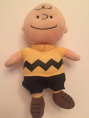 """4e7897b6920 CHARLIE BROWN TY Beanie Baby Plays Theme Music 8"""" Tall No Tag FREE SHIPPING"""