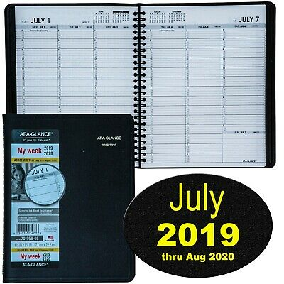 At-A-Glance 70-958-05 July 2019 thru August 2020 Academic Weekly Appt Book