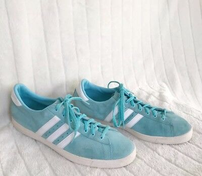 4f1bf545b9f ADIDAS GREEN STAR Sneakers Baby Blue / White Stripes Men's Shoes ...