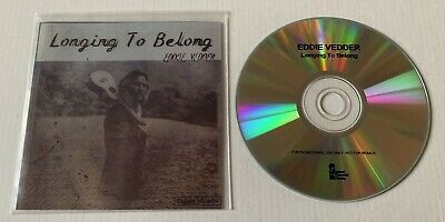 EDDIE VEDDER Longing To Belong Advance Promo CD Single PEARL JAM