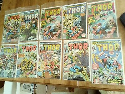 HUGE lot of 10 OLD Bronze Age High Grade Thor's!    Lot #4     BEAUTIFUL ART!!!!