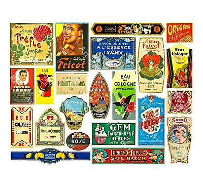 22 DRUGGIST LABELS, Sticker Sheet, Apothecary Labels & Drug Store Pharmacy Decor