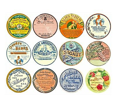 12 DRUGGIST LABELS, Sticker Sheet, Apothecary Labels & Drug Store Pharmacy Decor
