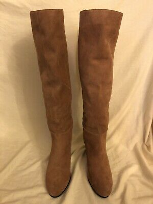 d8c1b2a31 SAM EDELMAN SILAS Knee High Tan Suede Leather Boots New 10.5 ...