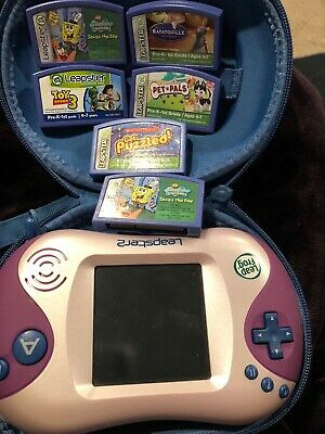 Leapster 2 System Games And Carrying Case