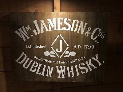 Jameson's  Pub Sign , Rustic Art , Brewiania, Bar, Man Cave, Wood Signs, Whisky