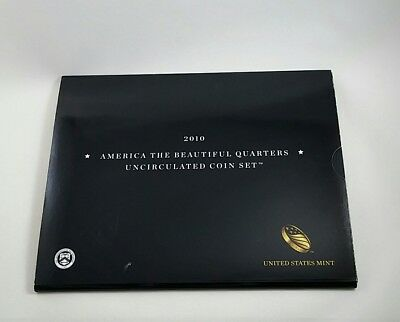 2010 America the Beautiful Quarters Uncirculated 10 Coin Set Includes COA & OGP