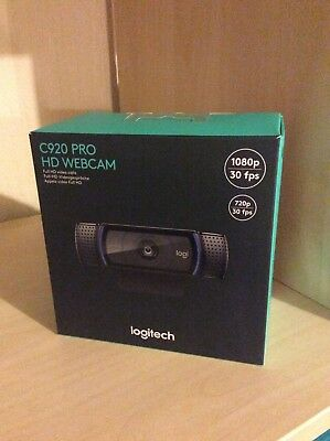 Logitech C920 HD Pro USB 1080p Webcam - Video Calling and Recording, Dual Stereo