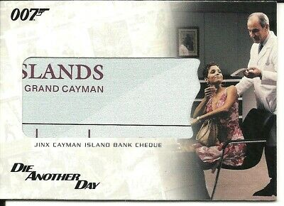 The Complete James Bond  Relic card  -  RC1  Jinx Cayman Island Bank Cheque