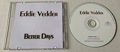 EDDIE VEDDER Better Days Advance Promo CD Single PEARL JAM