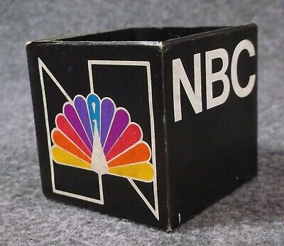 Vintage Nbc Peacock Television Mic Microphone Flag Clip