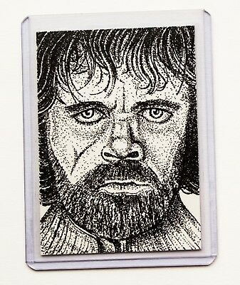 Tyrion Lannister Game of Thrones ACEO Sketch Card Limited Edition 2/15 Giclee