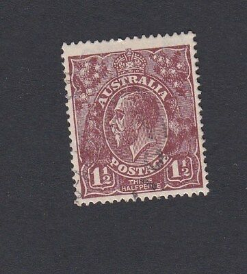 Australia 1919 1&1/2d BROWN  KGV head LARGE MULTI  LM wmk  stamp FINE USED