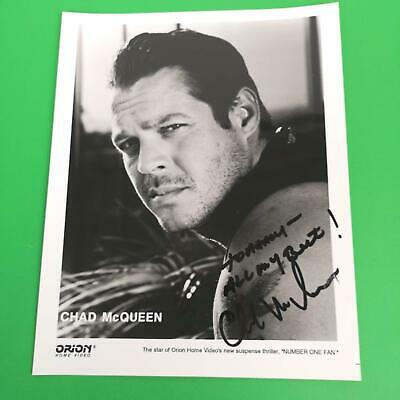 Chad McQueen Autographed Photo Orion Head Shot Number One Fan  8 x 10 Son Steve