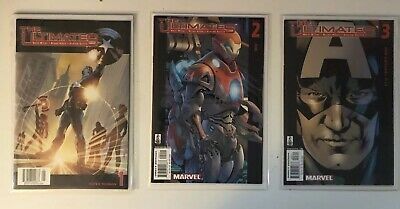 MARVEL'S THE ULTIMATES #1-3 2002 ULTIMATE UNIVERSE AVENGERS Millar Hitch