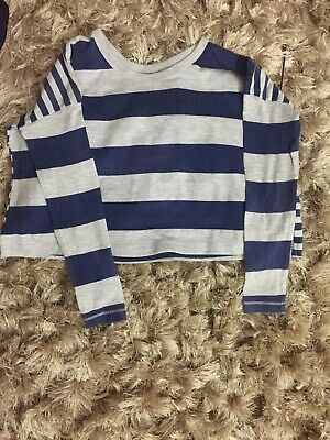Girls Marks And Spencer Slightly Cropped Top Age 8 Hardly Worn