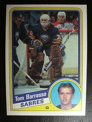 1984-1985 O-Pee-Chee Opc #18 Tom Barrasso  Rookie Card Rc  Nrmt/mt Sabres