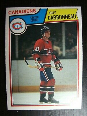 1983-1984 O-Pee-Chee Opc #185 Guy Carbonneau Rookie Card Rc  Nrmt/mt Canadiens