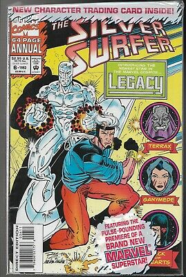 Silver Surfer Annual #6 Bagged Incl Card1st app of Legacy son of Captain Marvel!