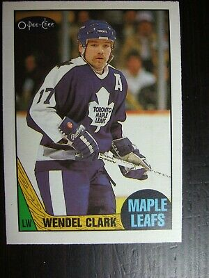 1987-1988 O-Pee-Chee Opc #12 Wendel Clark Card  Nm/mt  Set Break Maple Leafs