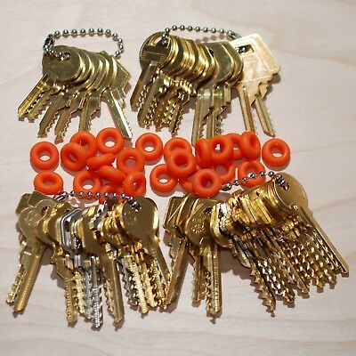 49 Original Offset, Keys - Residential, Commercial, Padlock, Mail w/ Bump Rings.