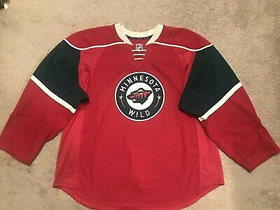 Minnesota Wild Authentic Home Team Issued Reebok Edge 2.0 7287 Jersey Size  58 110813456