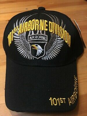 ARMY 101ST AIRBORNE Screaming Eagles Division Black Embroidered Cap ... a06df95d912f