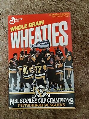 Pittsburgh Penguins 1991 Stanley Cup Wheaties Box