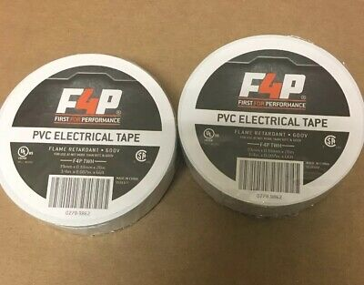 "10 Rolls White PVC Vinyl Electrical Tape FREE PRIORITY SHIPPING 3//4/"" x 66/'"