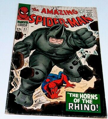 THE AMAZING SPIDER-MAN #41 ungraded  First appearance of THE RHINO!