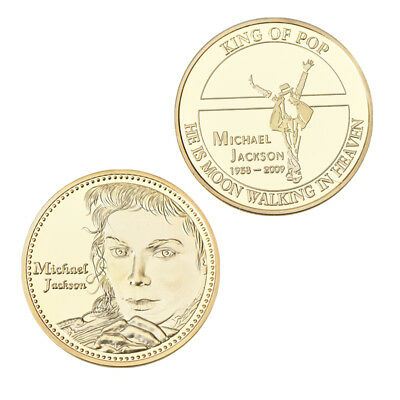 WR Gold Plated Michael Jackson Commemorative Coin King of Pop MJ Souvenirs Gifts