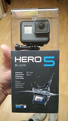 GoPro Hero 5 Black Action HERO5 4k 12MP Waterproof Camera