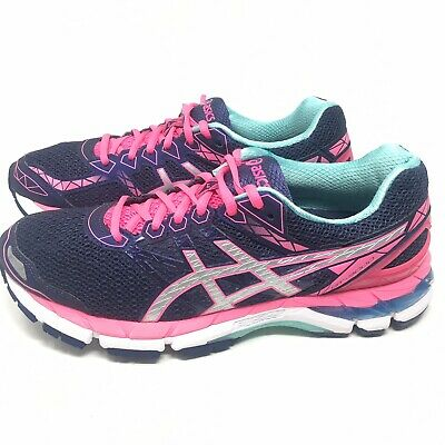 sélection premium abddc 269ed ASICS GT 3000 v 4 Running Shoes Women's Size US 9.5 M Midnight Blue Pink  T654N