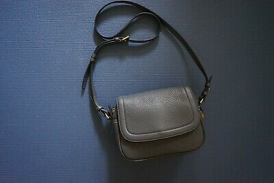 J.Crew Signet Flap Bag With Printed Strap In Italian Leather NWT Authentic
