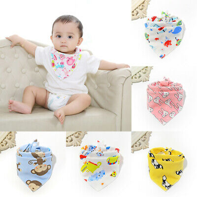 Infant Kids Baby Bibs Boy Girl Saliva Towel Dribble Triangle Bandana Apron AU