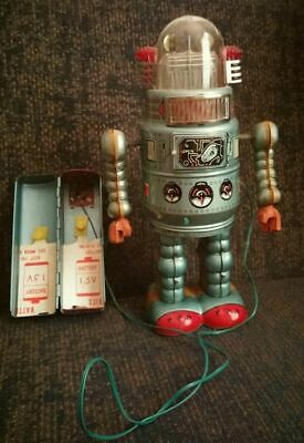 Alps Door Robot 50s 1950s Japan battery operated remote control robby type dome
