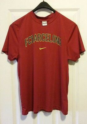 9a49df99e FC Barcelona Soccer Nike Fit Dry Compression T Shirt Mens Medium M Vintage  Messi