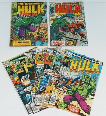 Incredible Hulk Bronze Age Lot of 8 Marvel Comics #122 #127 #203-212