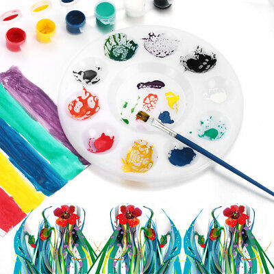 11 Wells Design Plastic Palette Art Paint Plastic Drawing Tray Painting Pallet