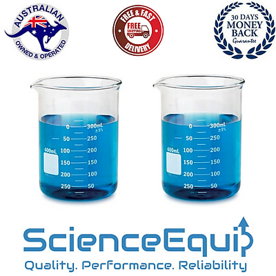 1000ml Beakers Low Form Borosilicate Glass Graduated chemistry Laboratory - 1pc