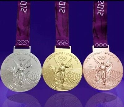 Gold London 2012 Olympics Style Medal With Lanyard Precise Gold Medal mi3