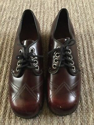 Mens 50's 60's Vinatge Lace Up Shoes REBELS By KOALA. Size 8 1/2 Round Toe