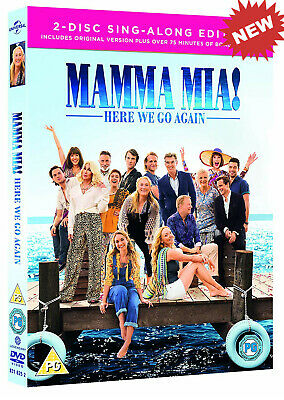 Mamma Mia! Here We Go Again DVD 2 Disc Sing-Along Edition Movie NEWGift for Her